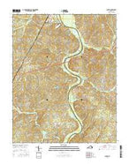 Clover Virginia Current topographic map, 1:24000 scale, 7.5 X 7.5 Minute, Year 2016 from Virginia Map Store