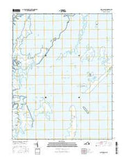 Cobb Island Virginia Current topographic map, 1:24000 scale, 7.5 X 7.5 Minute, Year 2016 from Virginia Maps Store