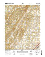 Conicville Virginia Current topographic map, 1:24000 scale, 7.5 X 7.5 Minute, Year 2016 from Virginia Maps Store