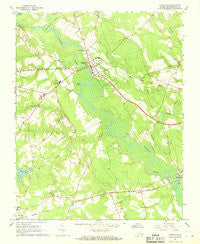 Courtland Virginia Historical topographic map, 1:24000 scale, 7.5 X 7.5 Minute, Year 1967