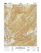 Covington Virginia Current topographic map, 1:24000 scale, 7.5 X 7.5 Minute, Year 2016 from Virginia Map Store