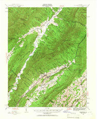 Craigsville Virginia Historical topographic map, 1:62500 scale, 15 X 15 Minute, Year 1943