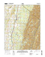 Crimora Virginia Current topographic map, 1:24000 scale, 7.5 X 7.5 Minute, Year 2016 from Virginia Map Store