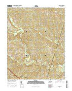 Dabneys Virginia Current topographic map, 1:24000 scale, 7.5 X 7.5 Minute, Year 2016 from Virginia Map Store