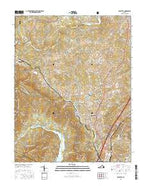 Daleville Virginia Current topographic map, 1:24000 scale, 7.5 X 7.5 Minute, Year 2016 from Virginia Map Store