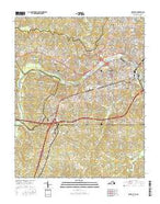 Danville Virginia Current topographic map, 1:24000 scale, 7.5 X 7.5 Minute, Year 2016 from Virginia Map Store