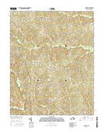 Darvills Virginia Current topographic map, 1:24000 scale, 7.5 X 7.5 Minute, Year 2016 from Virginia Map Store