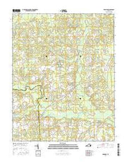 Dendron Virginia Current topographic map, 1:24000 scale, 7.5 X 7.5 Minute, Year 2016 from Virginia Maps Store