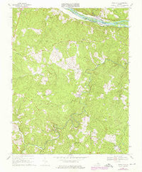 Diana Mills Virginia Historical topographic map, 1:24000 scale, 7.5 X 7.5 Minute, Year 1967