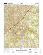 Dinwiddie Virginia Current topographic map, 1:24000 scale, 7.5 X 7.5 Minute, Year 2016 from Virginia Map Store