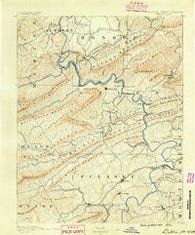 Dublin Virginia Historical topographic map, 1:125000 scale, 30 X 30 Minute, Year 1890