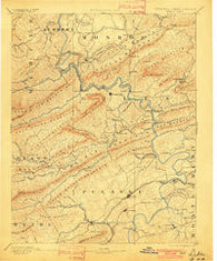 Dublin Virginia Historical topographic map, 1:125000 scale, 30 X 30 Minute, Year 1891