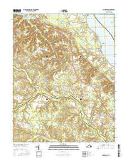 Dunnsville Virginia Current topographic map, 1:24000 scale, 7.5 X 7.5 Minute, Year 2016 from Virginia Maps Store
