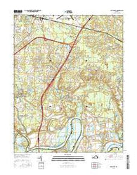 Dutch Gap Virginia Current topographic map, 1:24000 scale, 7.5 X 7.5 Minute, Year 2016
