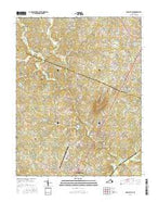 Earlysville Virginia Current topographic map, 1:24000 scale, 7.5 X 7.5 Minute, Year 2016 from Virginia Map Store