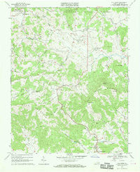 Elk Creek Virginia Historical topographic map, 1:24000 scale, 7.5 X 7.5 Minute, Year 1967