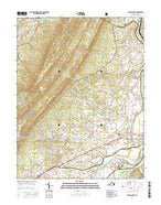 Elkton West Virginia Current topographic map, 1:24000 scale, 7.5 X 7.5 Minute, Year 2016 from Virginia Map Store