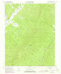 Elliott Knob Virginia Historical topographic map, 1:24000 scale, 7.5 X 7.5 Minute, Year 1967