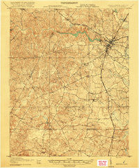 Emporia Virginia Historical topographic map, 1:62500 scale, 15 X 15 Minute, Year 1919