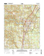 Emporia Virginia Current topographic map, 1:24000 scale, 7.5 X 7.5 Minute, Year 2016 from Virginia Map Store