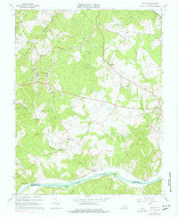 Esmont Virginia Historical topographic map, 1:24000 scale, 7.5 X 7.5 Minute, Year 1967