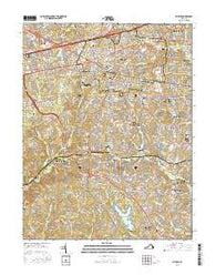 Fairfax Virginia Current topographic map, 1:24000 scale, 7.5 X 7.5 Minute, Year 2016