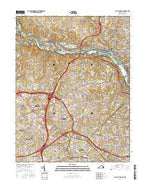 Falls Church Virginia Current topographic map, 1:24000 scale, 7.5 X 7.5 Minute, Year 2016 from Virginia Map Store
