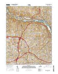 Falls Church Virginia Current topographic map, 1:24000 scale, 7.5 X 7.5 Minute, Year 2016