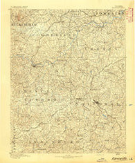 Farmville Virginia Historical topographic map, 1:125000 scale, 30 X 30 Minute, Year 1891