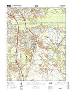 Fentress Virginia Current topographic map, 1:24000 scale, 7.5 X 7.5 Minute, Year 2016 from Virginia Map Store