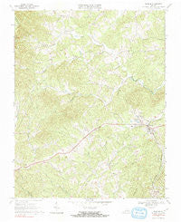 Ferrum Virginia Historical topographic map, 1:24000 scale, 7.5 X 7.5 Minute, Year 1967