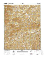 Ferrum Virginia Current topographic map, 1:24000 scale, 7.5 X 7.5 Minute, Year 2016 from Virginia Map Store