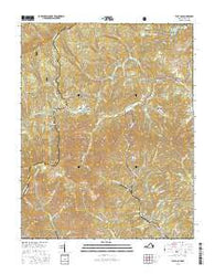 Flat Gap Virginia Current topographic map, 1:24000 scale, 7.5 X 7.5 Minute, Year 2016