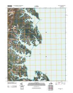 Fleets Bay Virginia Historical topographic map, 1:24000 scale, 7.5 X 7.5 Minute, Year 2011