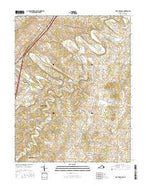 Fort Defiance Virginia Current topographic map, 1:24000 scale, 7.5 X 7.5 Minute, Year 2016 from Virginia Map Store
