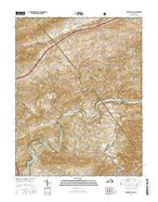 Fosters Falls Virginia Current topographic map, 1:24000 scale, 7.5 X 7.5 Minute, Year 2016 from Virginia Map Store
