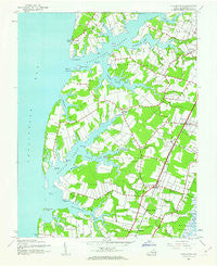 Franktown Virginia Historical topographic map, 1:24000 scale, 7.5 X 7.5 Minute, Year 1943
