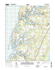 Franktown Virginia Current topographic map, 1:24000 scale, 7.5 X 7.5 Minute, Year 2016 from Virginia Maps Store