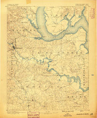 Fredericksburg Virginia Historical topographic map, 1:125000 scale, 30 X 30 Minute, Year 1889
