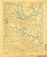Fredericksburg Virginia Historical topographic map, 1:125000 scale, 30 X 30 Minute, Year 1894