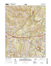 Gainesville Virginia Current topographic map, 1:24000 scale, 7.5 X 7.5 Minute, Year 2016 from Virginia Maps Store