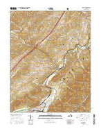 Glasgow Virginia Current topographic map, 1:24000 scale, 7.5 X 7.5 Minute, Year 2016 from Virginia Map Store