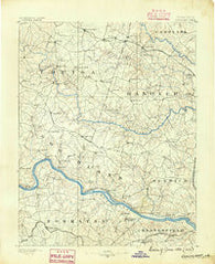 Goochland Virginia Historical topographic map, 1:125000 scale, 30 X 30 Minute, Year 1890