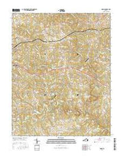 Goode Virginia Current topographic map, 1:24000 scale, 7.5 X 7.5 Minute, Year 2016 from Virginia Maps Store