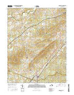 Gordonsville Virginia Current topographic map, 1:24000 scale, 7.5 X 7.5 Minute, Year 2016 from Virginia Map Store