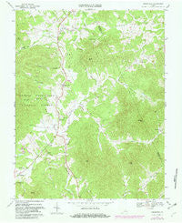 Greenfield Virginia Historical topographic map, 1:24000 scale, 7.5 X 7.5 Minute, Year 1967