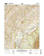 Grottoes Virginia Current topographic map, 1:24000 scale, 7.5 X 7.5 Minute, Year 2016 from Virginia Map Store