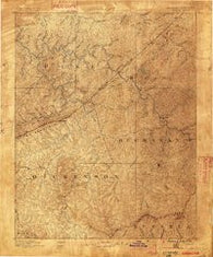 Grundy Virginia Historical topographic map, 1:125000 scale, 30 X 30 Minute, Year 1886