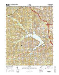 Hallsboro Virginia Current topographic map, 1:24000 scale, 7.5 X 7.5 Minute, Year 2016