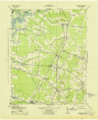 Hallwood Virginia Historical topographic map, 1:31680 scale, 7.5 X 7.5 Minute, Year 1943